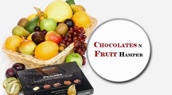 choclate and fruit hampers